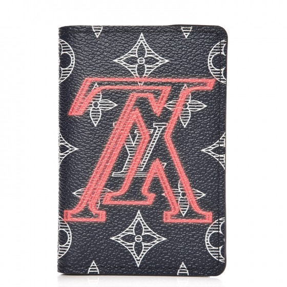 Louis Vuitton Pocket Organizer Monogram Ink Upside Down Navy