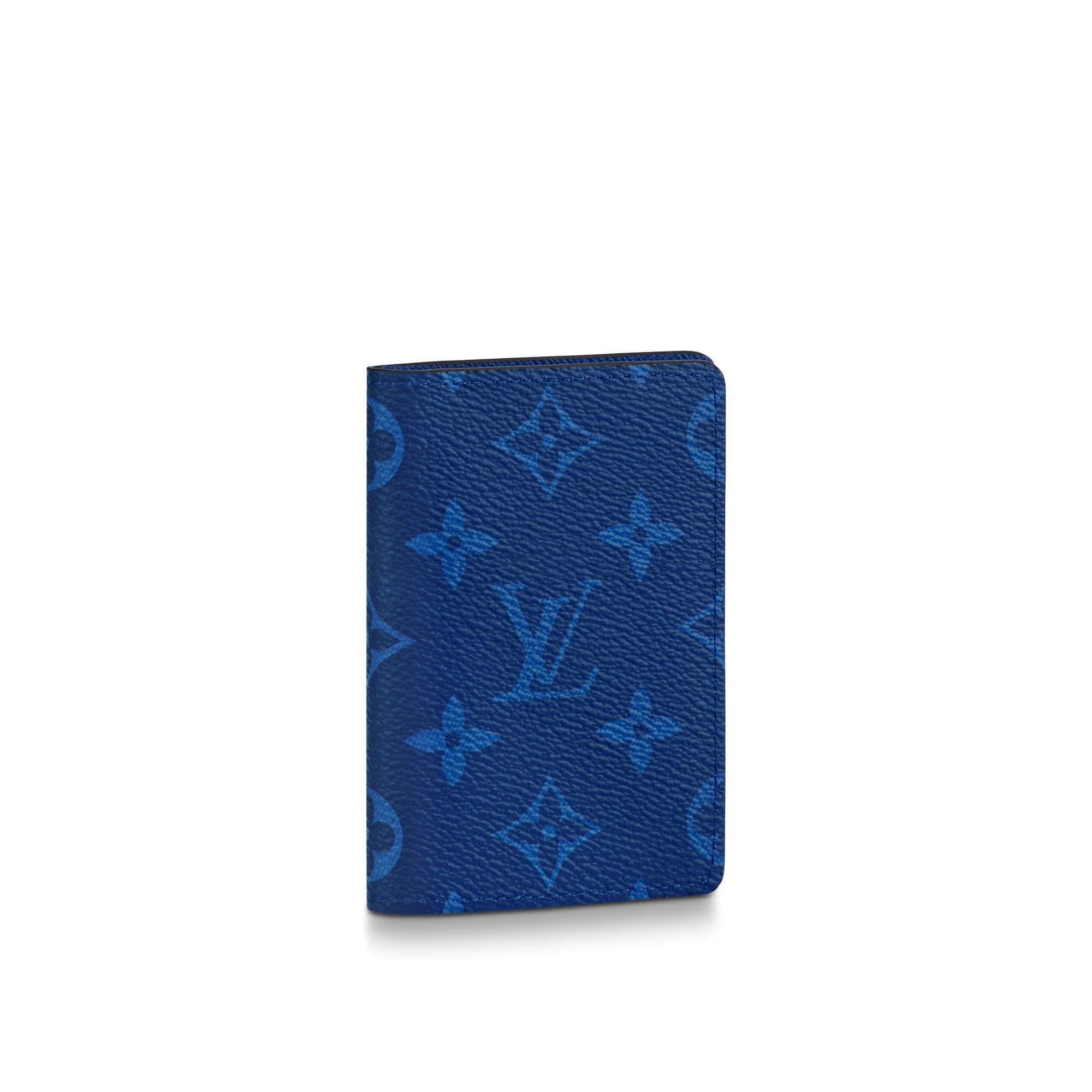 Louis Vuitton Pocket Organizer Monogram Pacific Taiga Blue