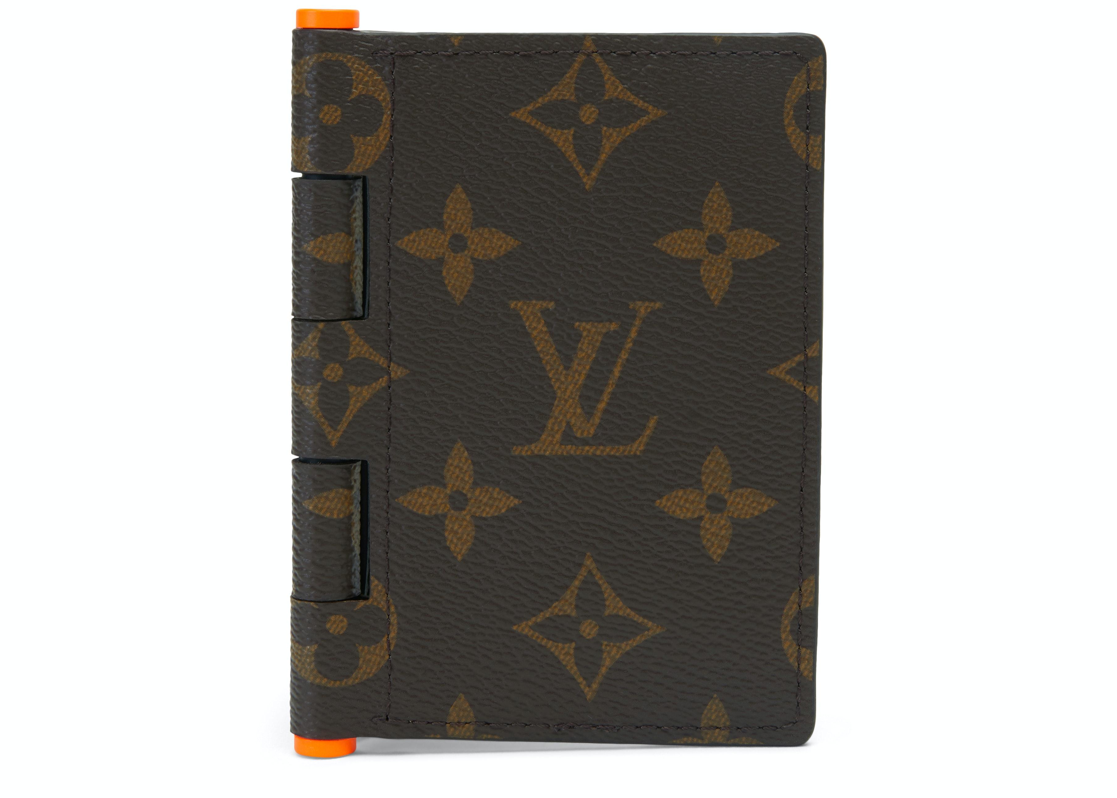 Louis Vuitton Pocket Organizer Monogram Solar Ray Orange Brown