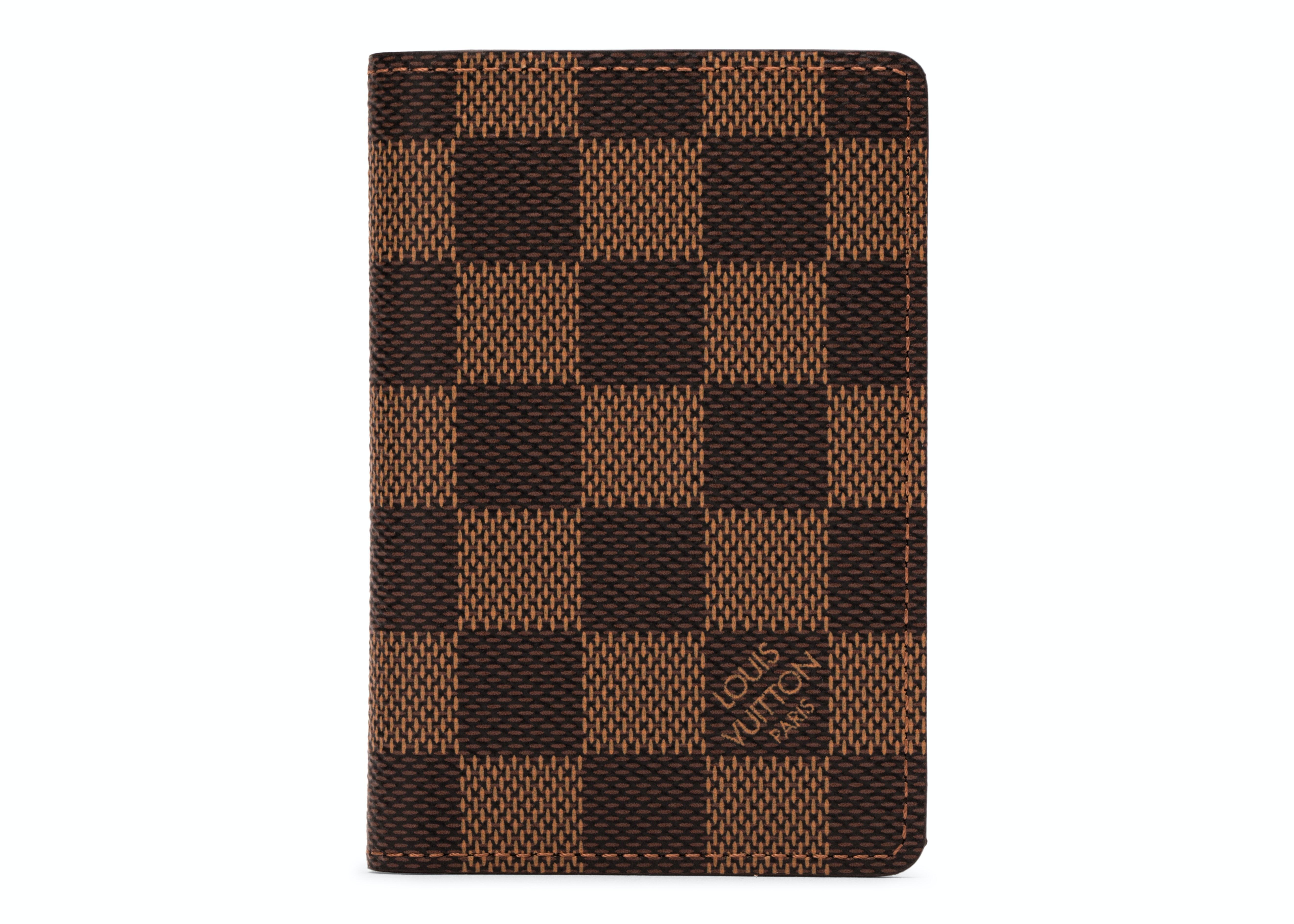 Louis Vuitton Pocket Organizer Damier Ebene NM Brown