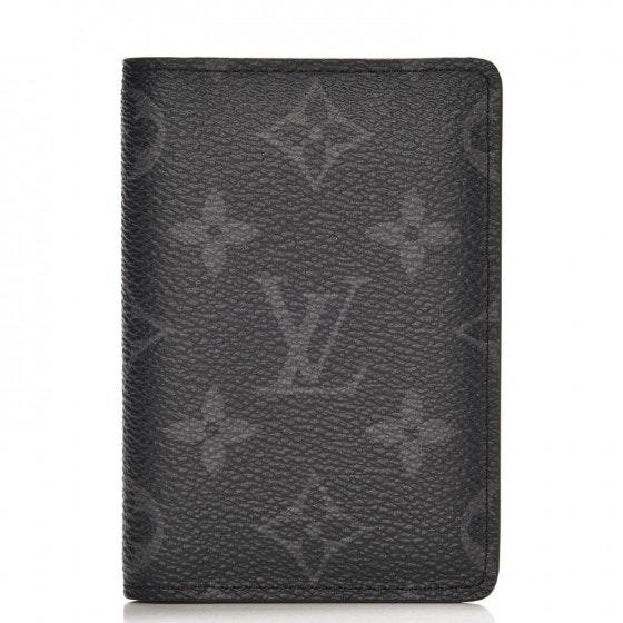 Louis Vuitton Pocket Organizer Monogram Eclipse NM Grey