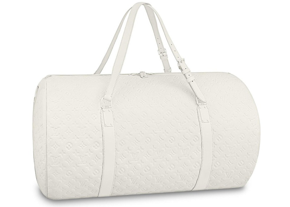Louis Vuitton Polochon Monogram Empreinte White
