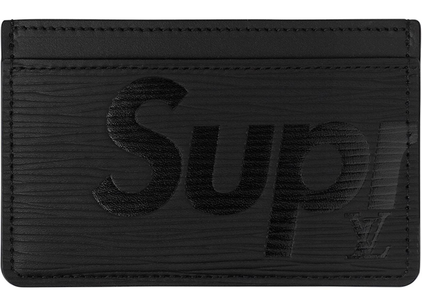 scarpe originali di alta qualità negozio online Louis Vuitton x Supreme Porte Carte Simple Epi Black