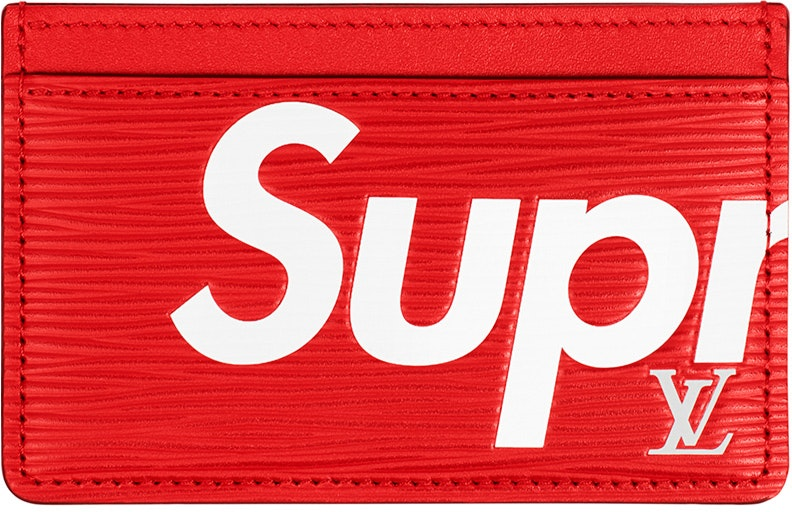 Louis Vuitton x Supreme Porte Carte Simple Epi Red
