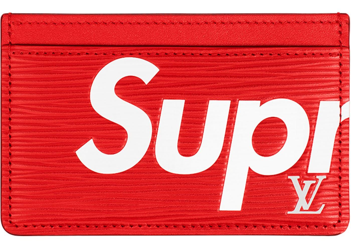 Louis vuitton x supreme porte carte simple epi red - Supreme louis vuitton porta carte ...