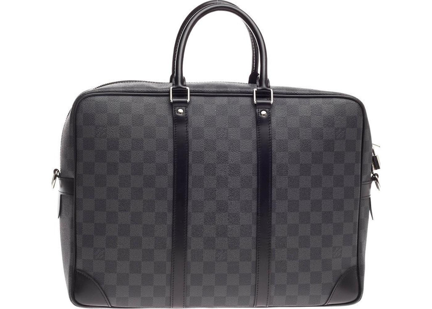 01b867b2ad Louis Vuitton Porte-Documents Voyages Damier Graphite GM Black. Damier  Graphite GM Black