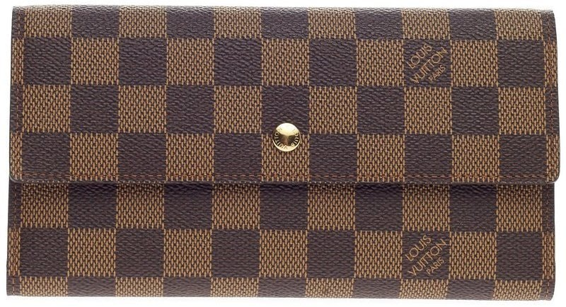 Louis Vuitton Porte Tresor Damier Ebene Brown