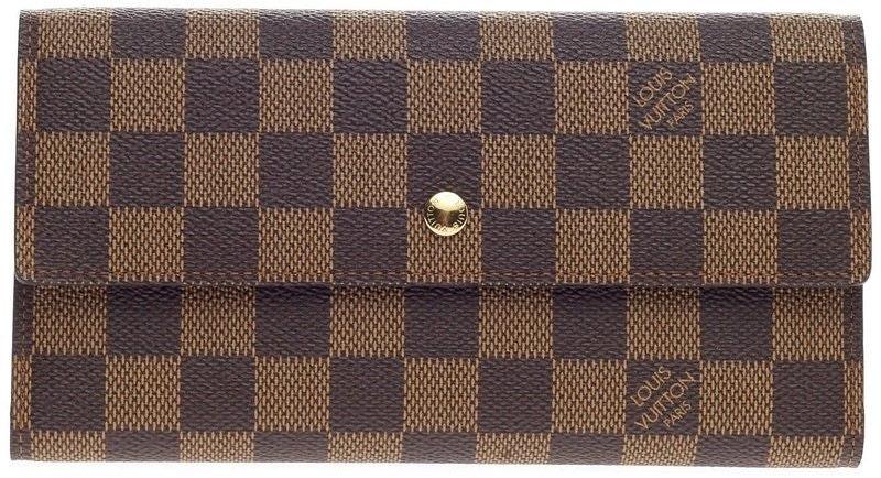 Louis Vuitton Porte Tresor Damier Ebene Brown