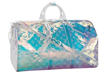 Louis Vuitton Prism Keepall Monogram Empreinte Iridiscent 50 Clear/Pink