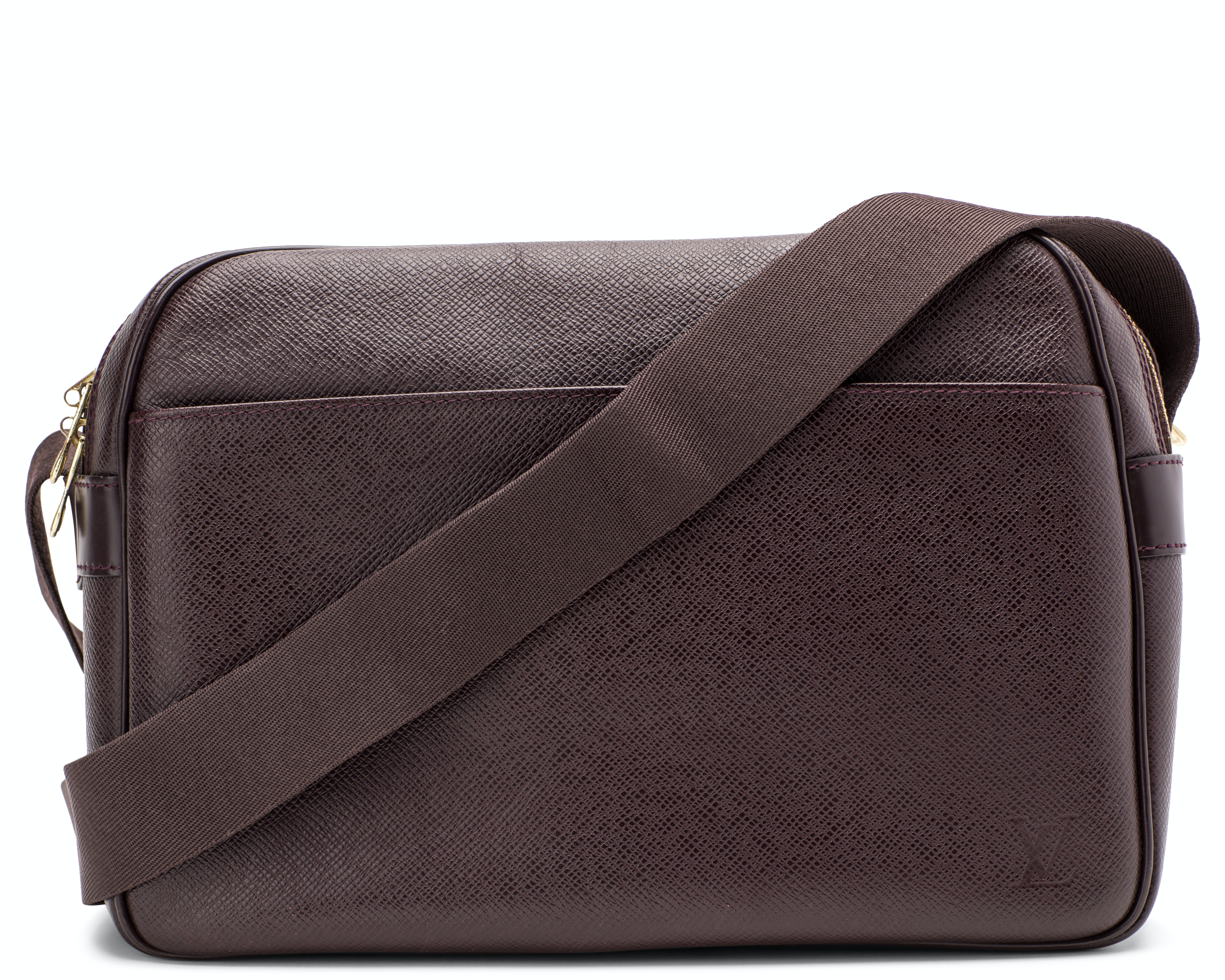 Louis Vuitton Reporter Bag Taiga PM Burgundy