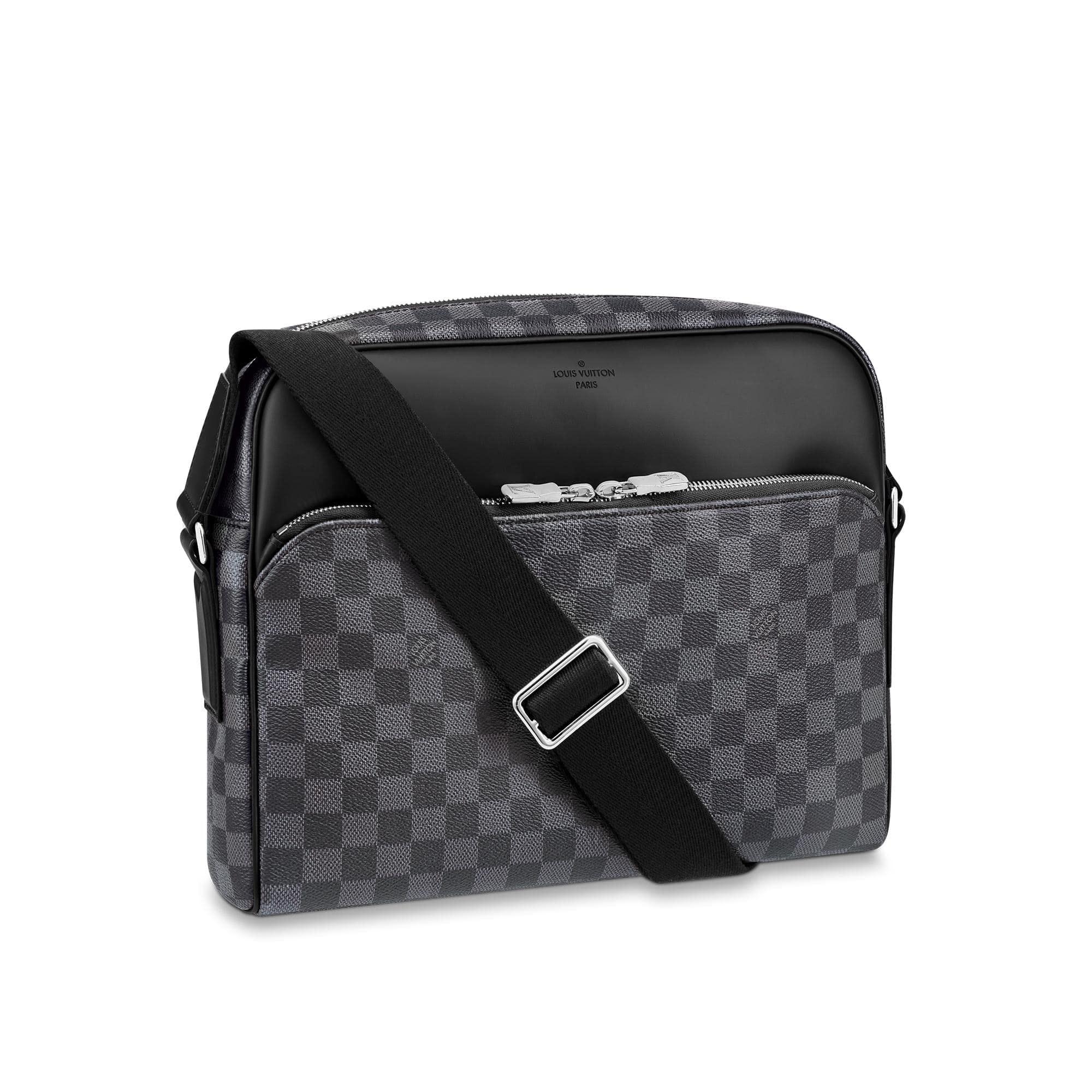Louis Vuitton Reporter Dayton Damier Graphite MM Black/Grey