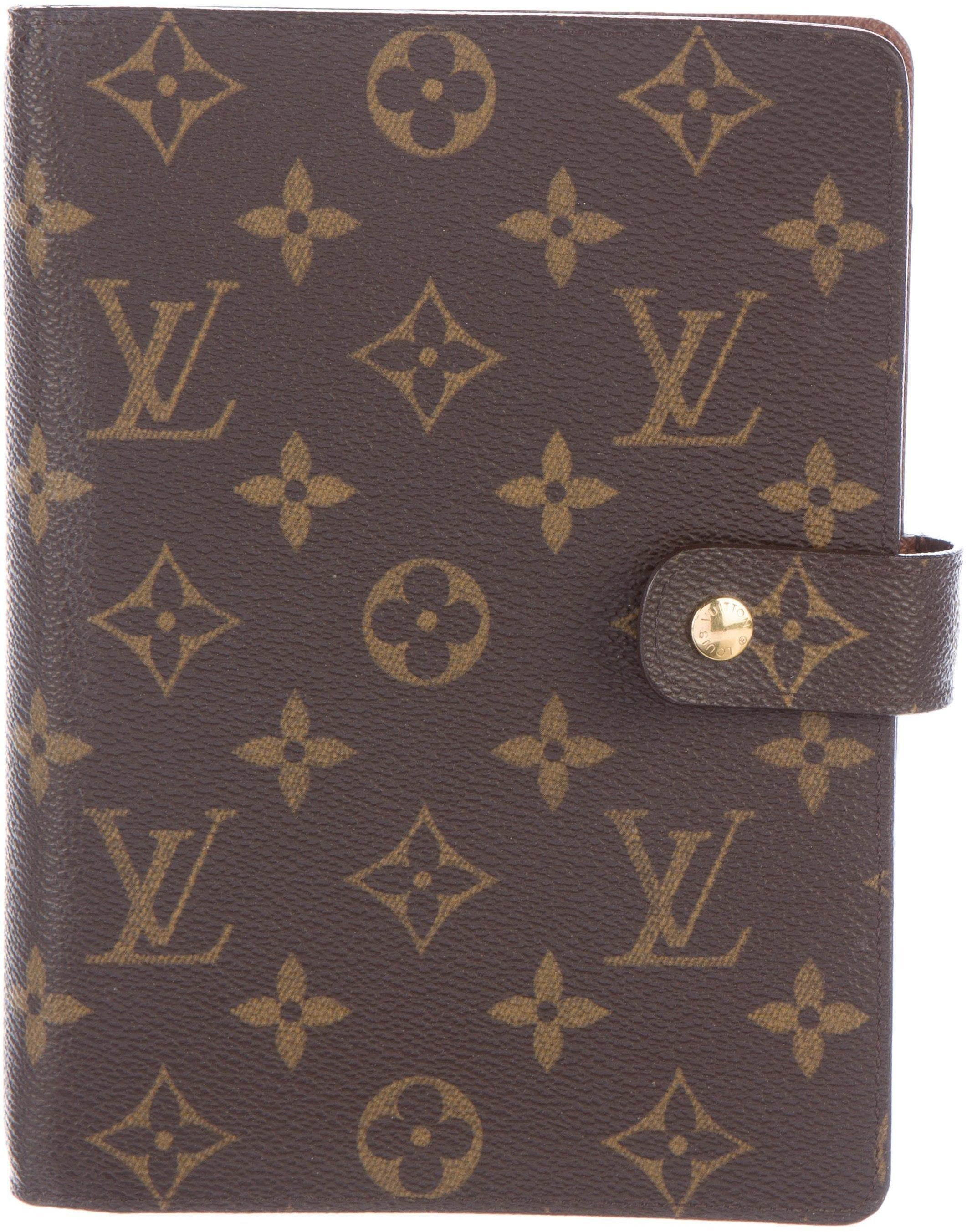 Louis Vuitton Ring Agenda Monogram Medium Brown