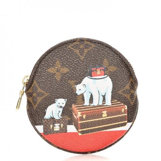 Louis Vuitton Round Coin Purse Polar Bear Xmas Monogram