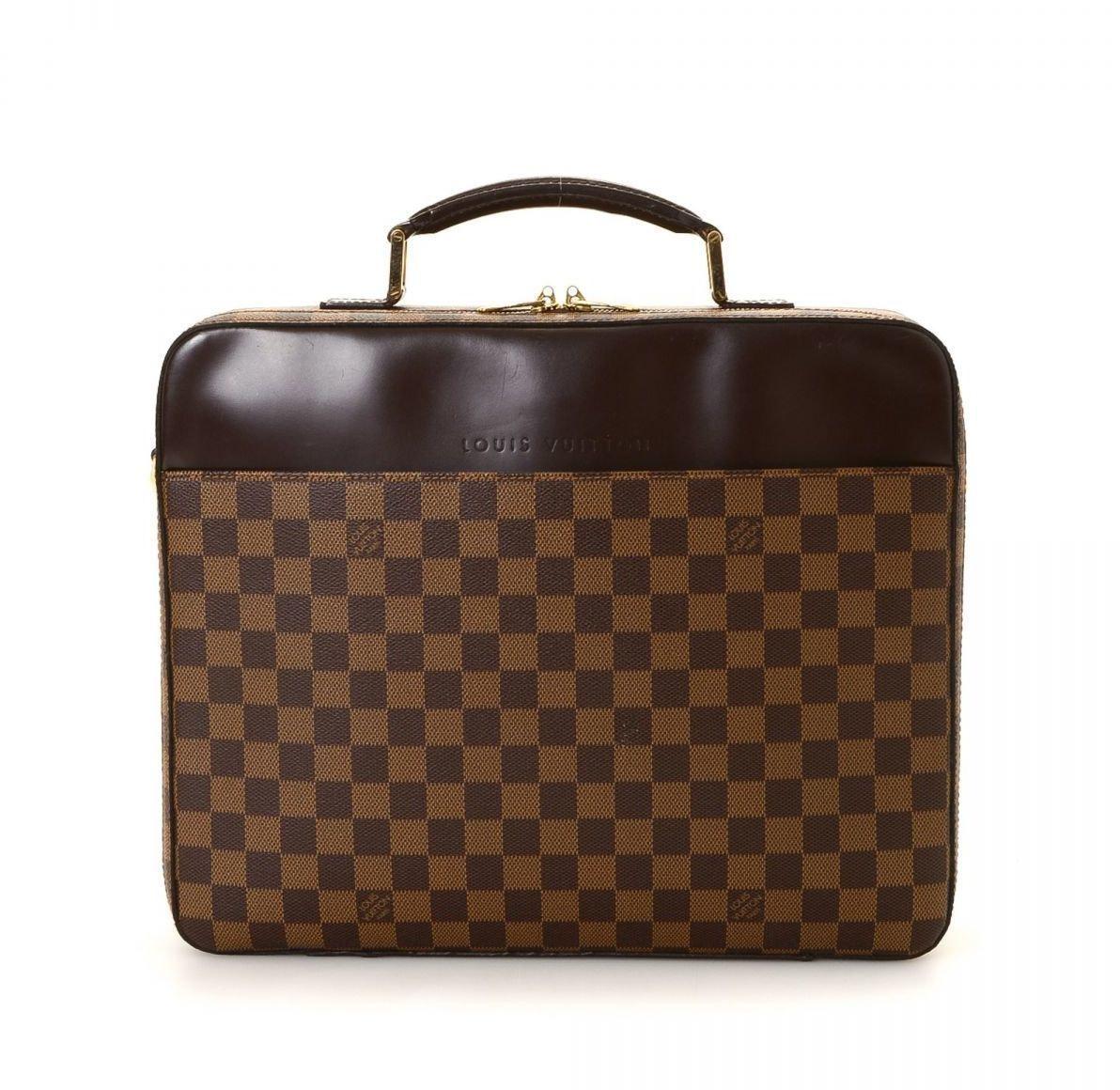 Louis Vuitton Sabana Laptop Case Damier Ebene Brown