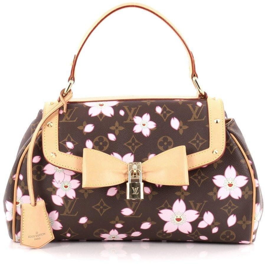 Louis Vuitton Sac Retro Monogram Cherry Blossom Brown Pink