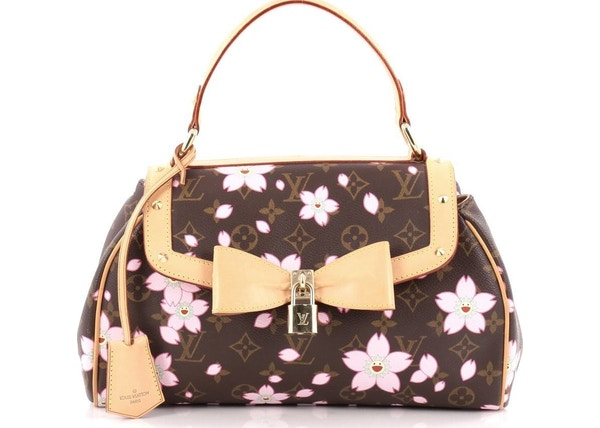 6a0f8cf18228 Louis Vuitton Sac Retro Monogram Cherry Blossom Brown Pink