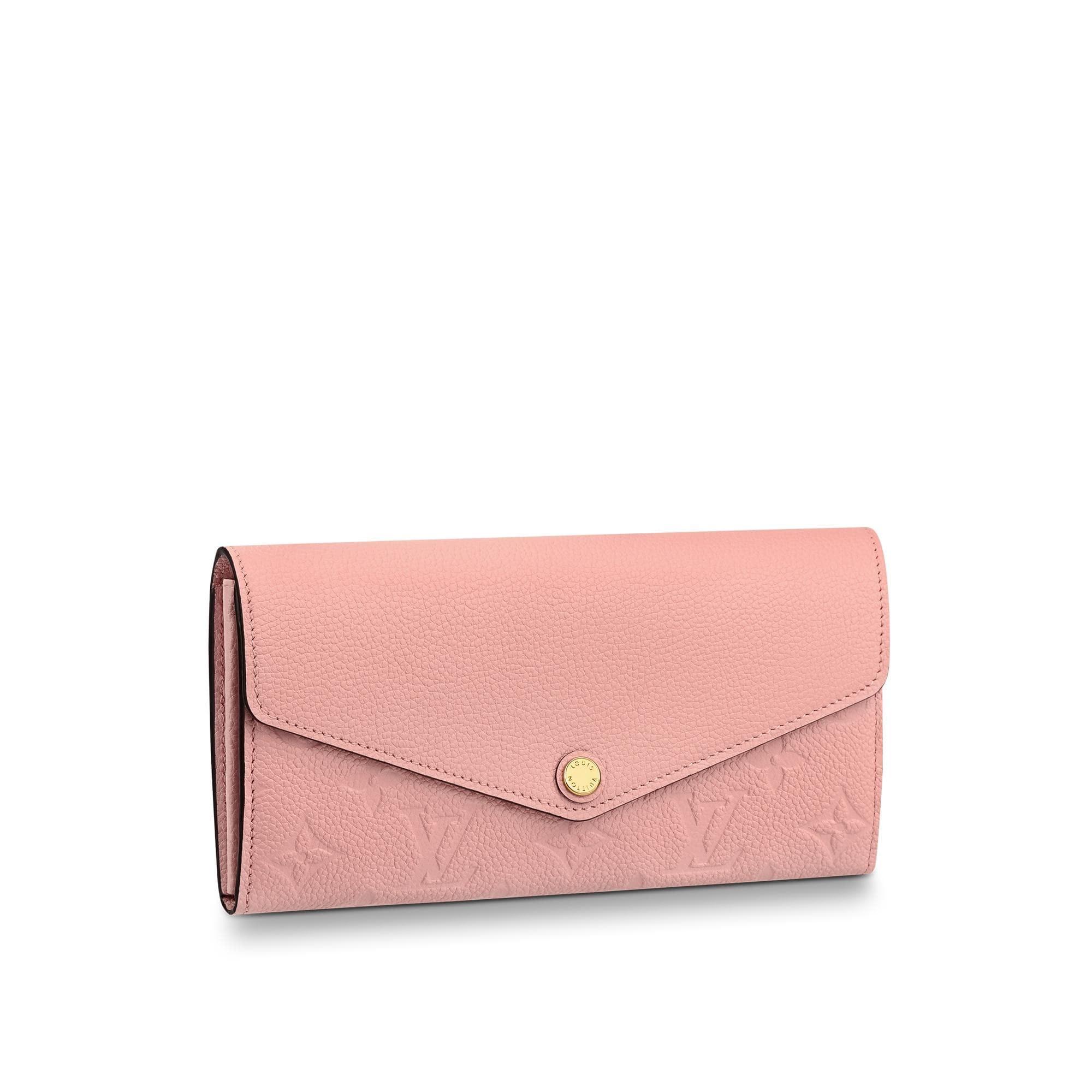 Louis Vuitton Sarah Wallet Monogram Empreinte Rose Poudre