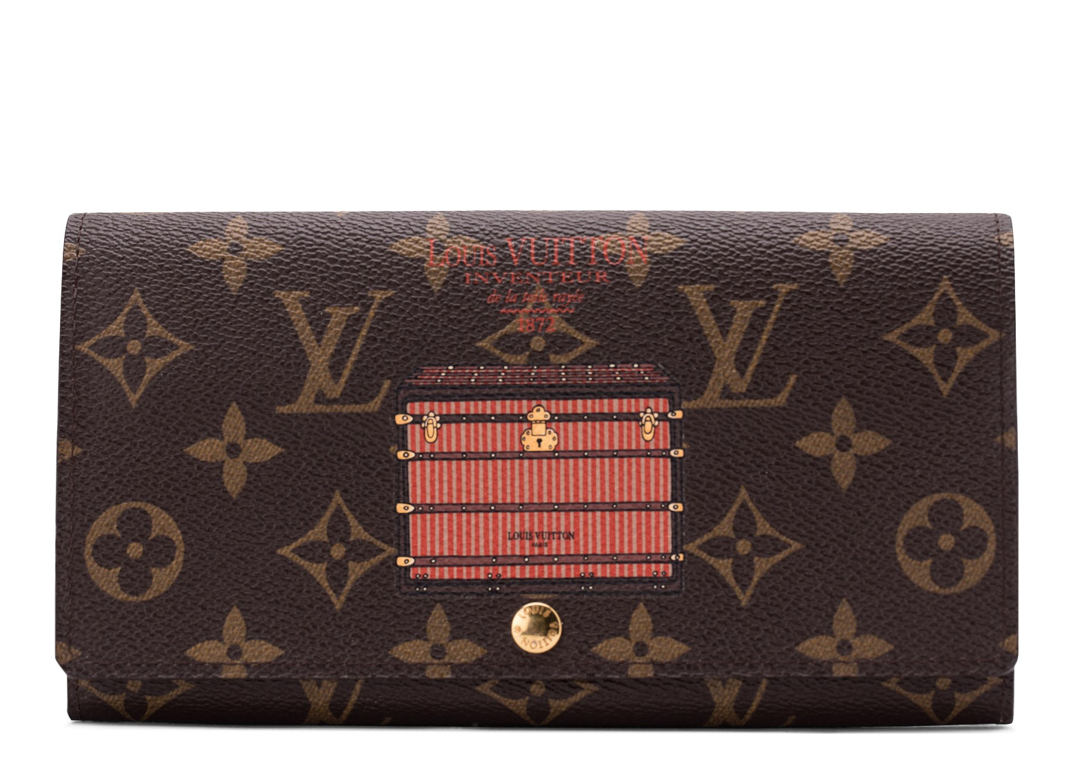 Louis Vuitton Sarah Wallet Trunks and Locks Monogram Brown