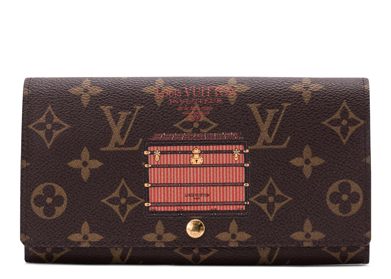 Louis Vuitton Sarah Wallet Trunks and Locks Monogram Brown