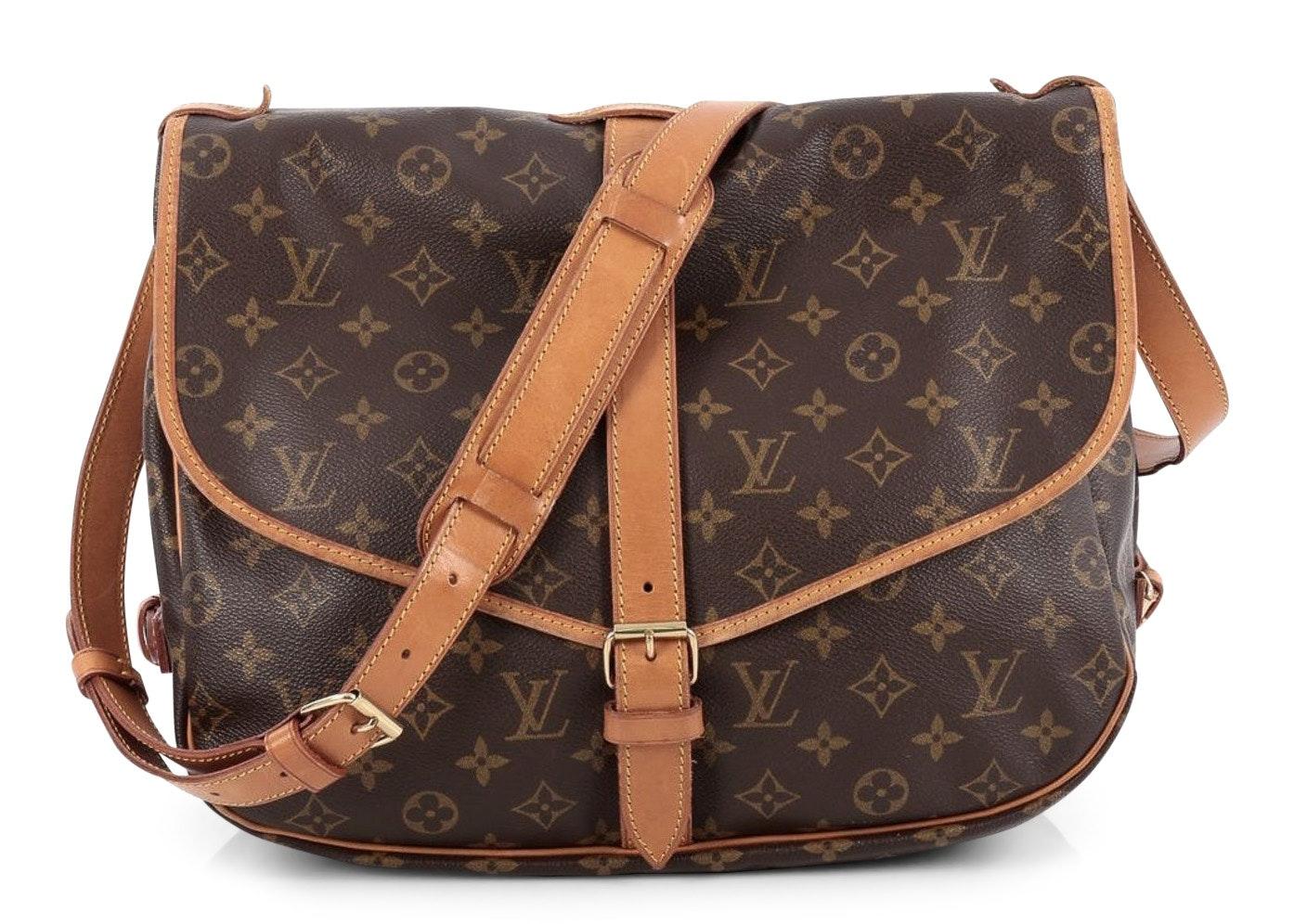 Louis Vuitton Saumur Monogram 35 Brown