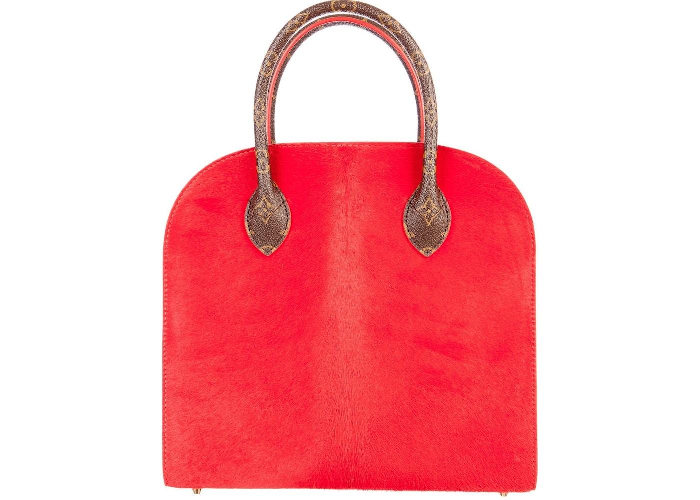 77378e751a21 Louis Vuitton x Christian Louboutin Iconoclast Tote Monogram Brown Red