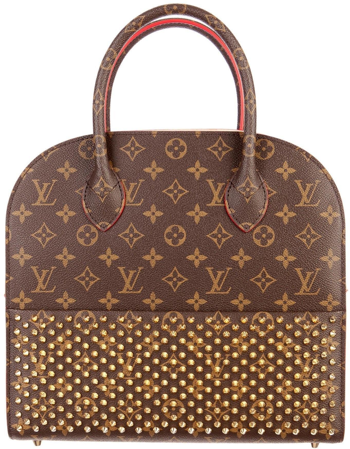 Louis Vuitton Shopping Bag Christian Louboutin Monogram Brown/Red