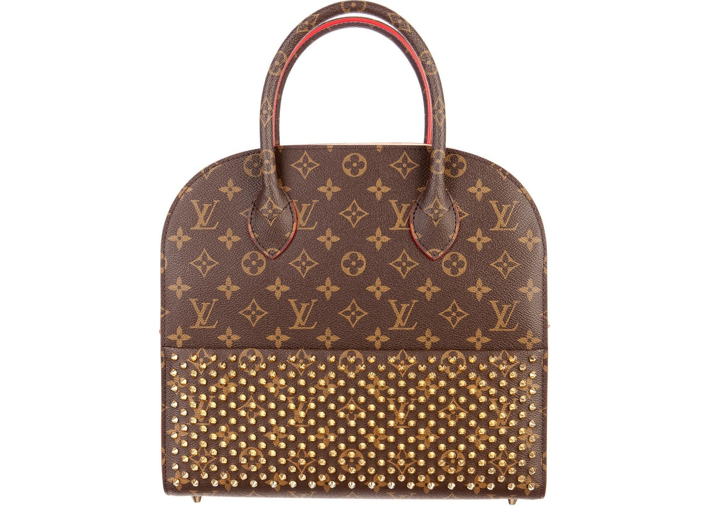 50aa00e2eb1 Louis Vuitton x Christian Louboutin Iconoclast Tote Monogram Brown Red.  Monogram Brown Red