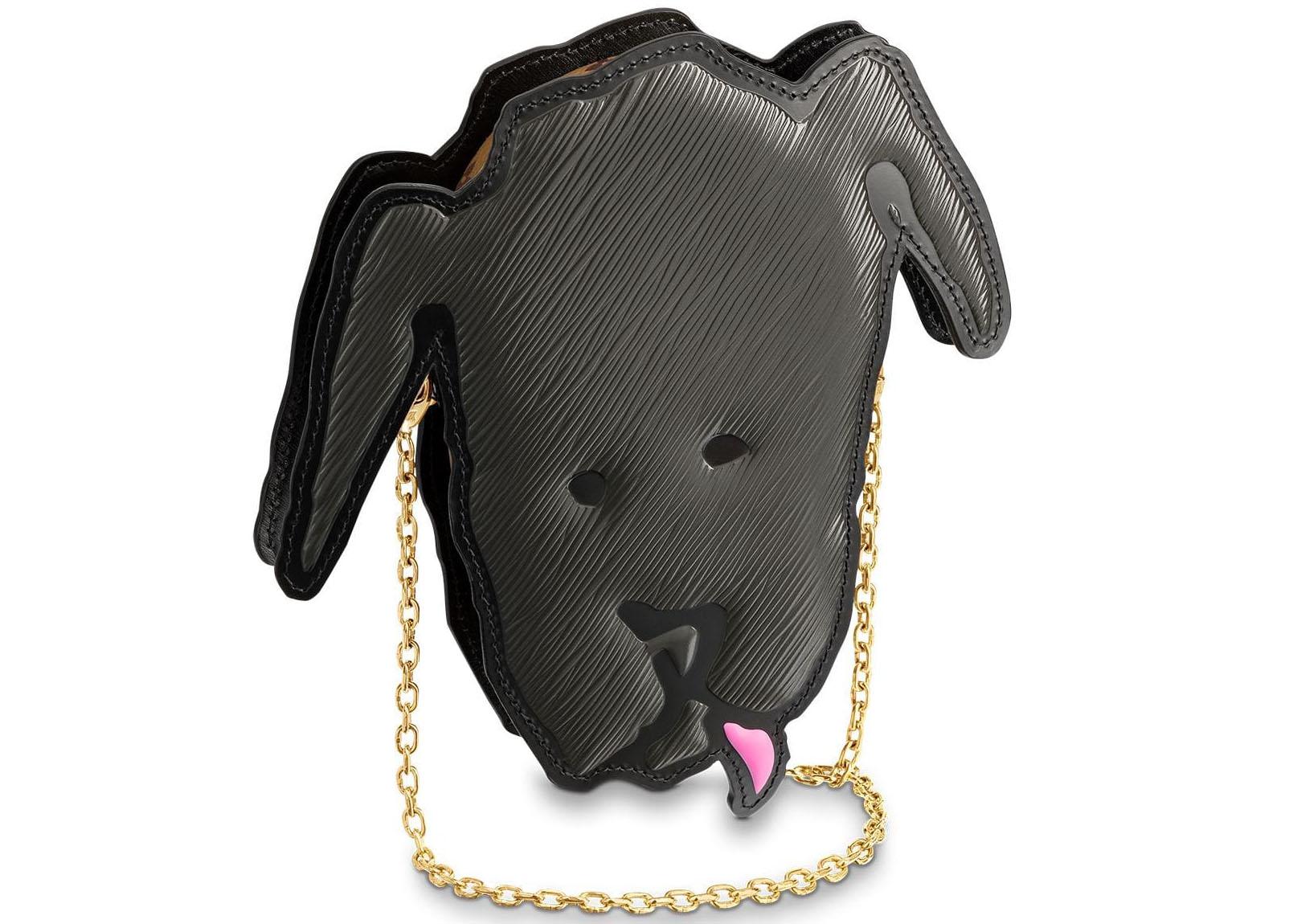 Louis Vuitton Shoulder Bag Dog Face Black
