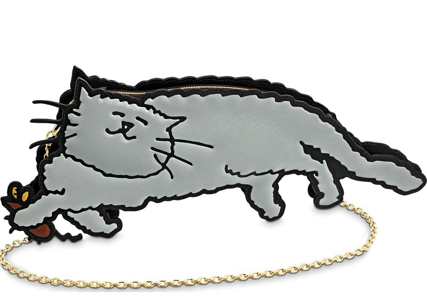5f7d99e1ca14 Louis Vuitton Shoulder Bag Full Cat Grey. Grey
