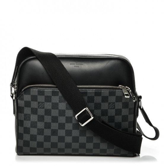 Louis Vuitton Shoulder Dayton Reporter Damier Graphite PM Black