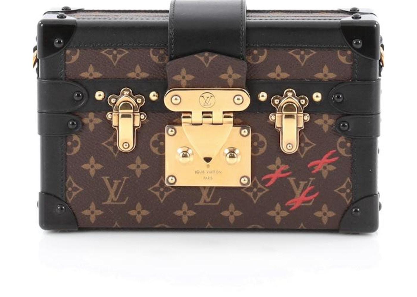 d6ff66e82af6 Louis Vuitton Petite Malle Monogram Black Brown. Monogram Black Brown