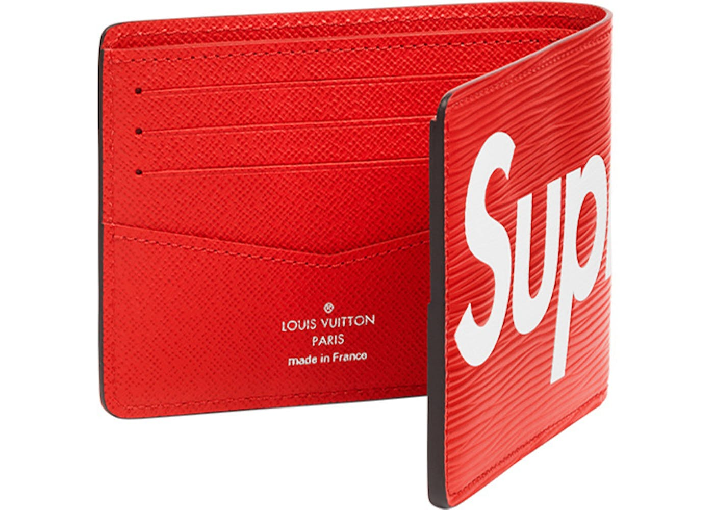 louis vuitton x supreme slender wallet epi red. Black Bedroom Furniture Sets. Home Design Ideas