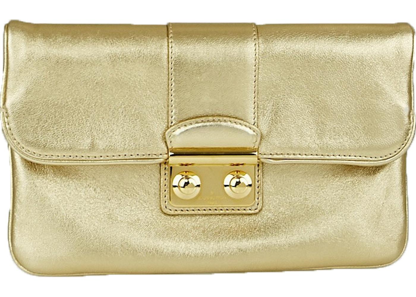 fce2673a764e Sell. or Ask. View All Bids. Louis Vuitton Clutch Sofia Coppola Metallic  Slim Gold