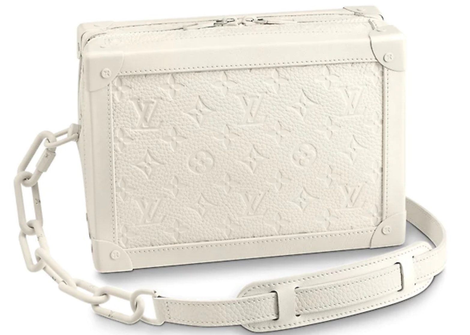 Louis Vuitton Soft Trunk Monogram Powder White
