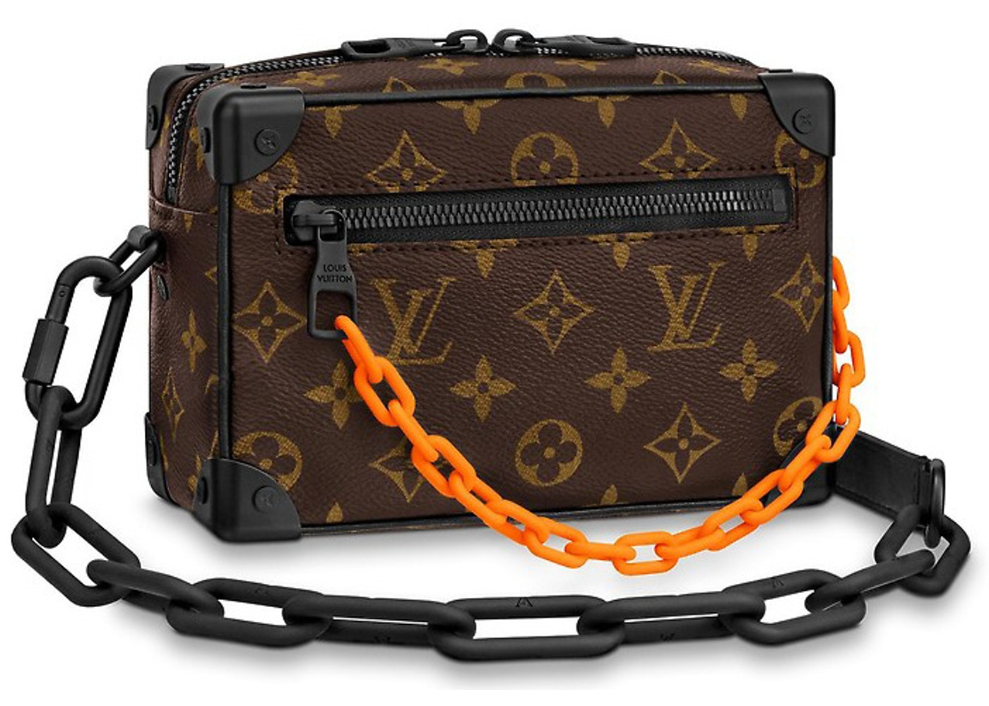 Louis Vuitton Mini Soft Trunk Monogram Brown Orange