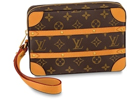 Louis Vuitton Soft Trunk Pouch Monogram Brown
