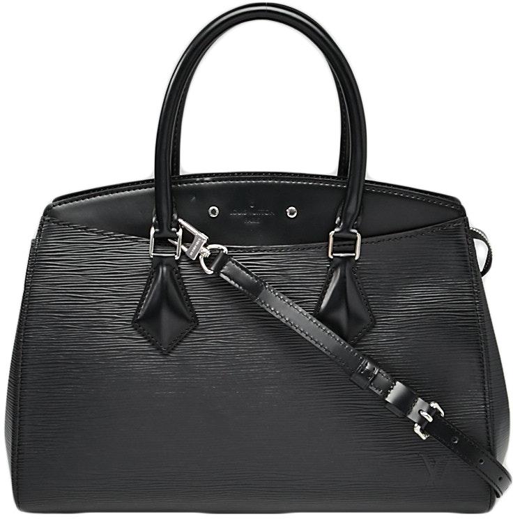 Louis Vuitton Handbag Soufflot Epi MM Black