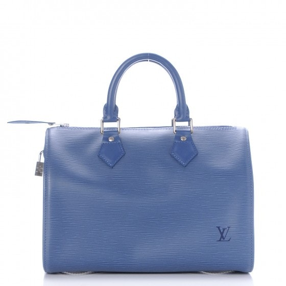 Louis Vuitton Speedy Epi 25 Myrtille Blue