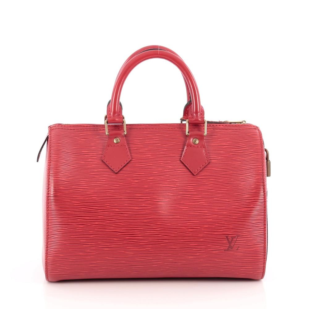 Louis Vuitton Speedy Epi 25 Red