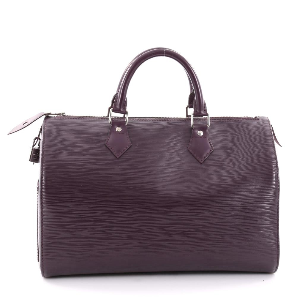 Louis Vuitton Speedy Epi 35 Purple