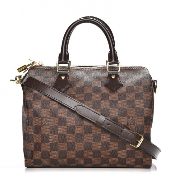 Louis Vuitton Speedy Bandouliere Damier Ebene 25 With Strap