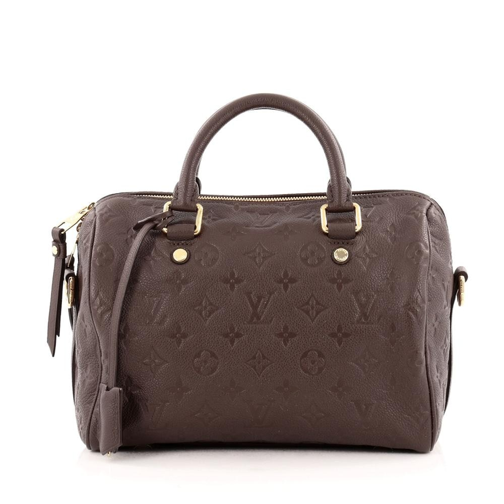 Louis Vuitton Speedy Bandouliere Monogram Empreinte 25 Terre Brown