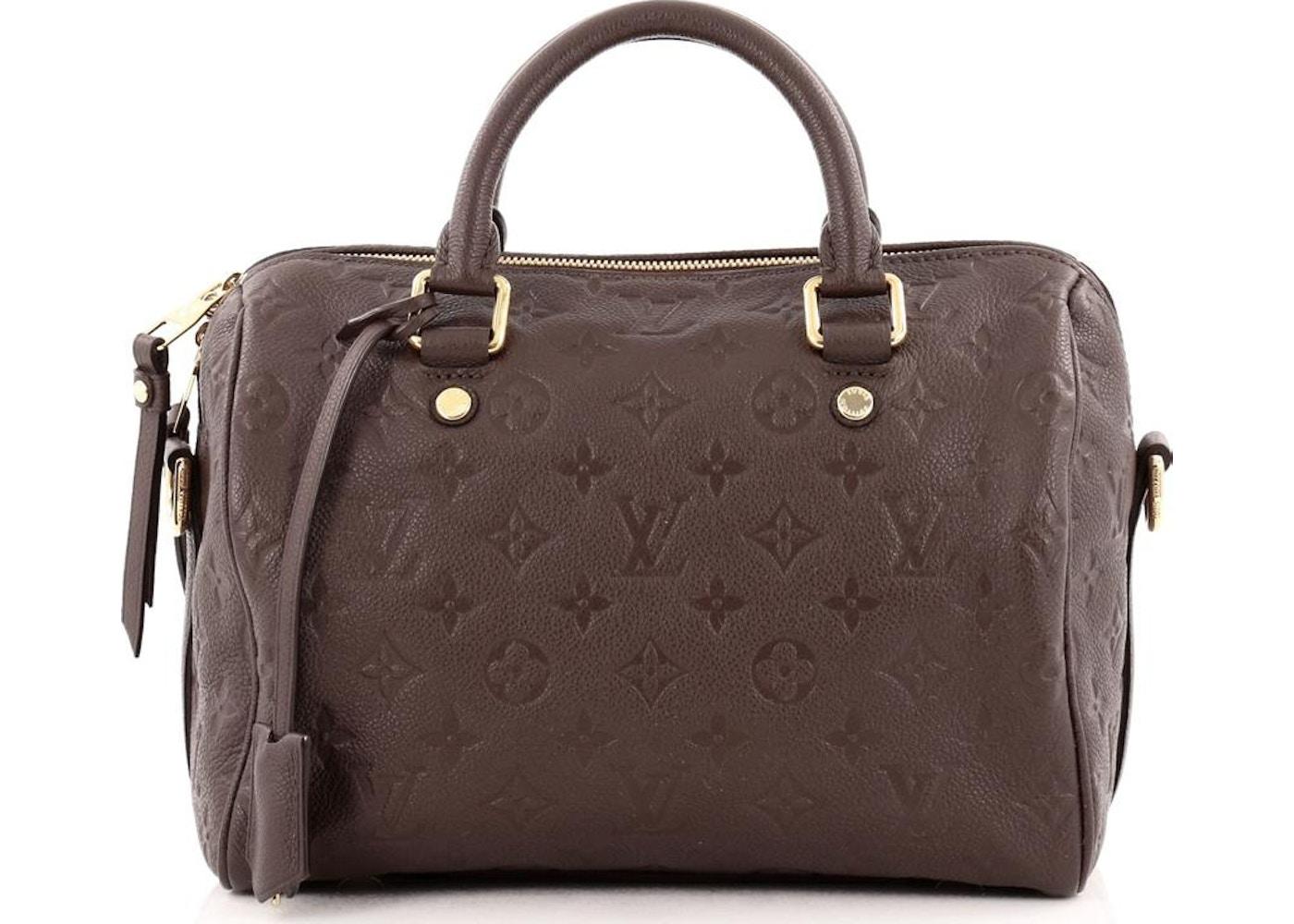582c5e84f158 Louis Vuitton Speedy Bandouliere Monogram Empreinte 25 Terre Brown