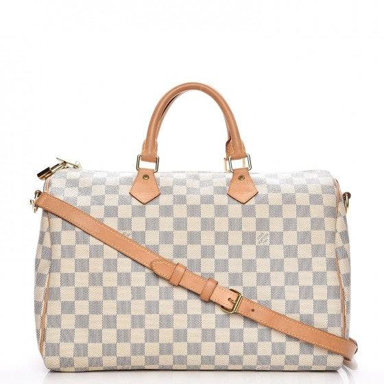 Louis Vuitton Speedy Bandouliere Damier Azur 35