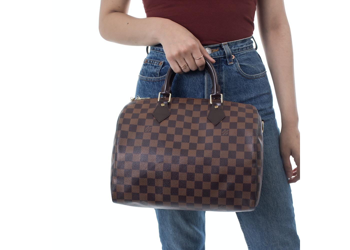 0f52268dad340 Louis Vuitton Speedy Bandouliere Damier Ebene 30 Brown