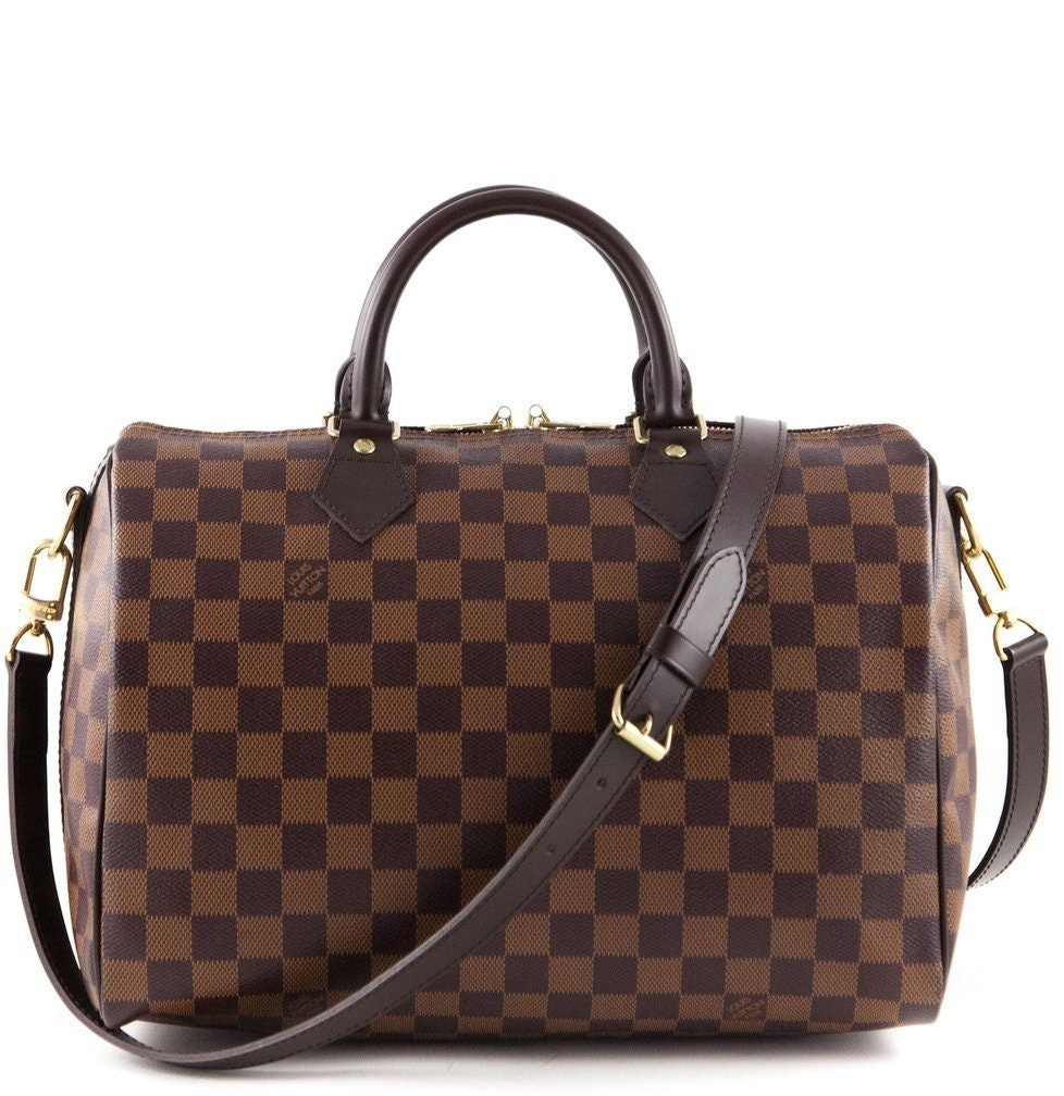 Louis Vuitton Speedy Bandouliere Damier Ebene 30 Brown