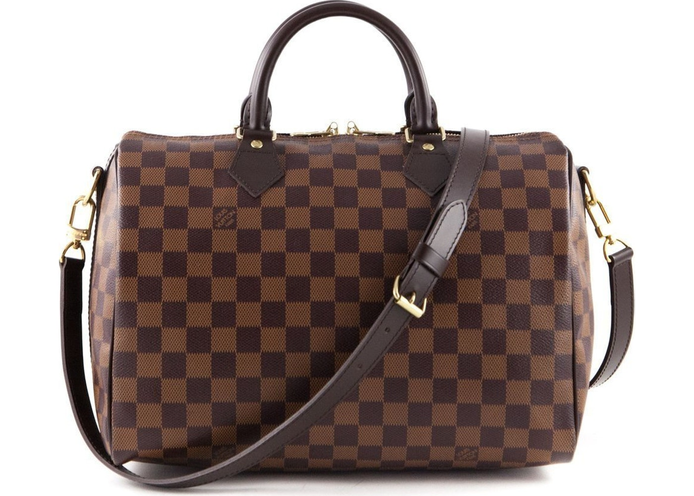 louis vuitton speedy bandouliere damier ebene 30 brown. Black Bedroom Furniture Sets. Home Design Ideas
