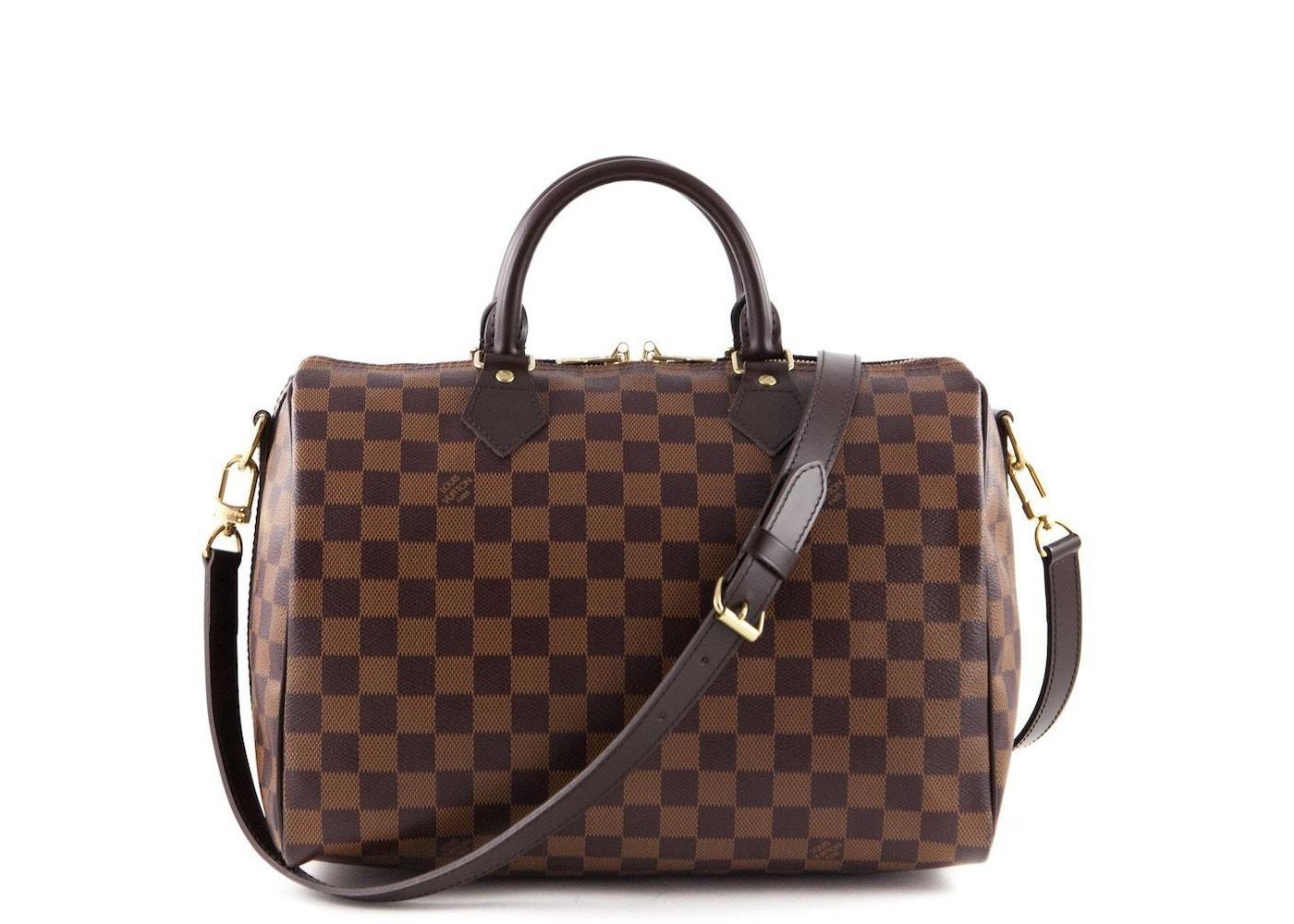 96f2ac4bd03 Louis Vuitton Speedy Bandouliere Damier Ebene (Without Accessories) 30 Brown