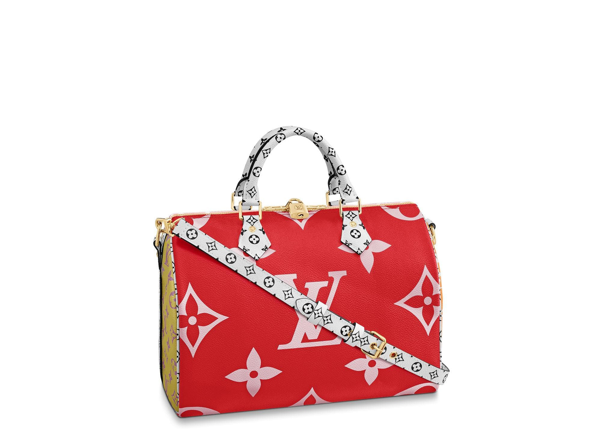Louis Vuitton Speedy Bandouliere Monogram Giant 30 Red/Pink