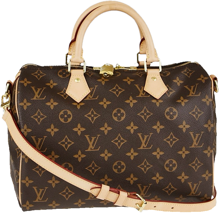 Louis Vuitton Speedy Bandouliere Monogram 30 Brown